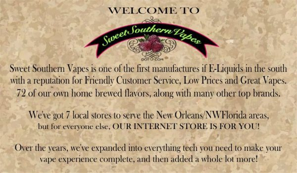 about sweet southern vapes header img